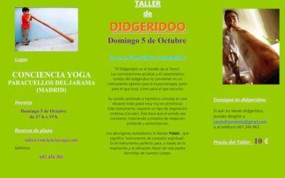 Taller de Didjeridoo el 5 de Octubre de 2014