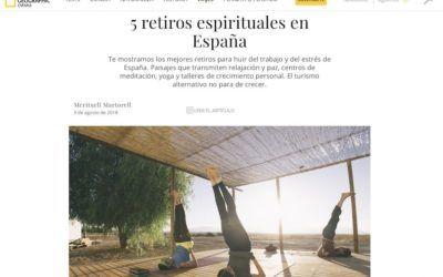 La revista National Geographic España recomienda nuestros retiros de ConcienciaYoga